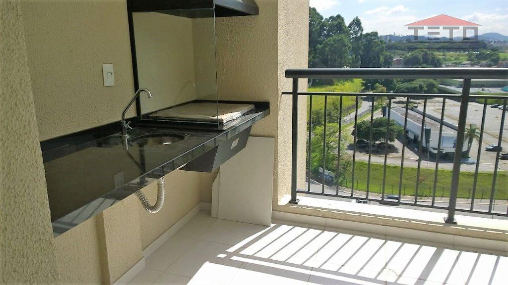 novíssimo apartamento studio, 38m2, varanda gourmet; condomínio cidade maia, torre alameda, 1 vaga de garagem. pisos...