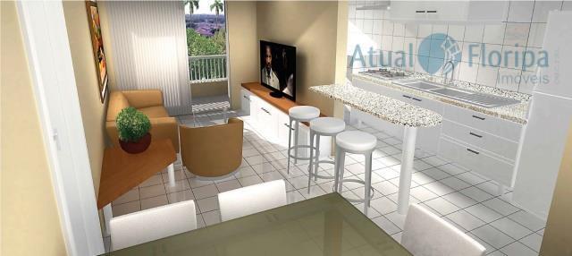 ótimo apartamento com 2 dormitórios, sendo uma suíte; sala, banheiro social, cozinha, área de serviço e...