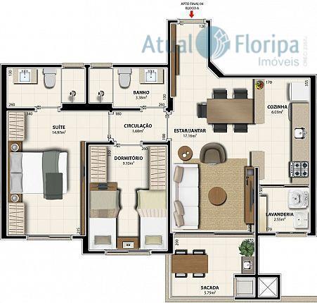 ótimo apartamento em localização privilegiada em bairro residencial com a tranquilidade de uma rua de baixo...