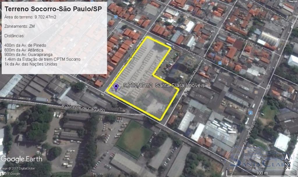 Terreno para venda e locação, Socorro, São Paulo.