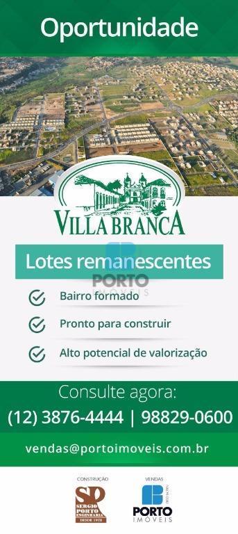Terreno residencial à venda, Loteamento Villa Branca, Jacareí - TE0041.