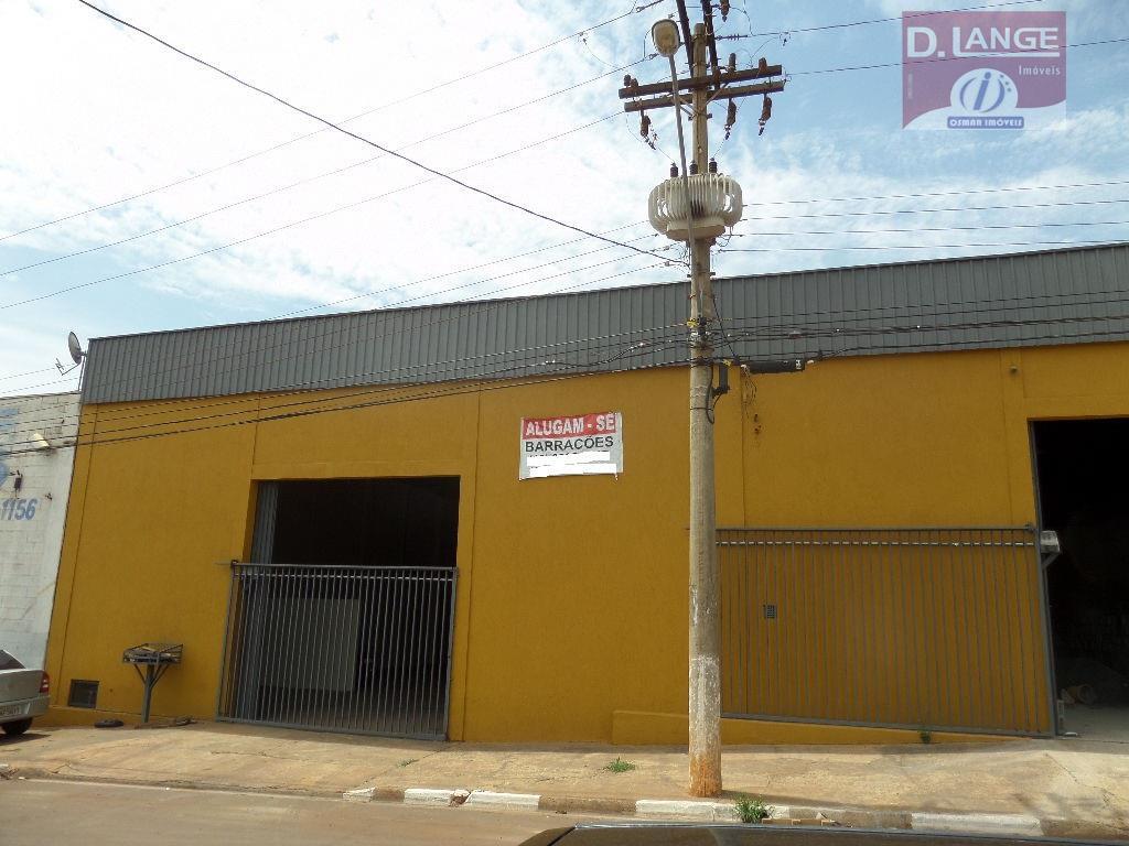 Barracão  comercial para locação, Parque da Figueira, Paulínia.