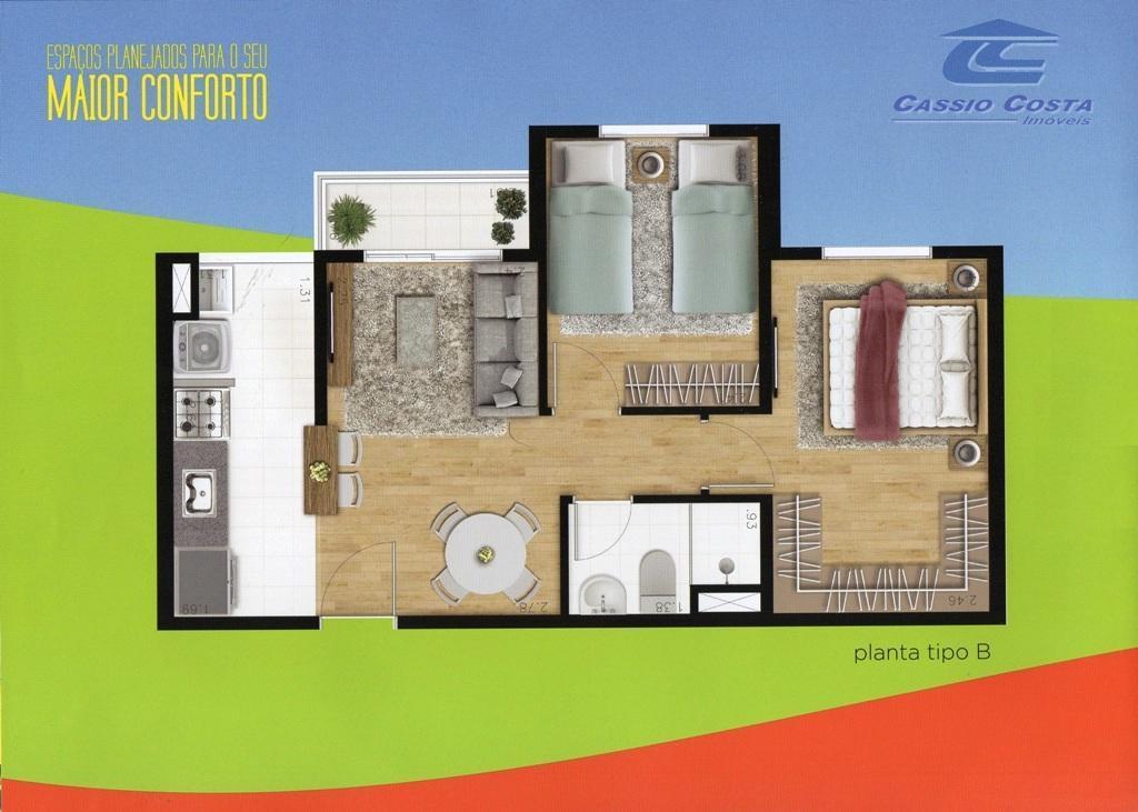 apartamentos em construção na vila curuçá, condomínio localizado a aproximadamente 600m da estação cptm jardim helena-vila...