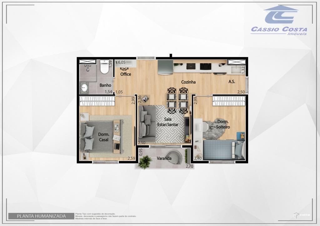 apartamentos em condomínio fechado, localizado a 1km da estação dom bosco da cptm. o empreendimento disponibiliza...