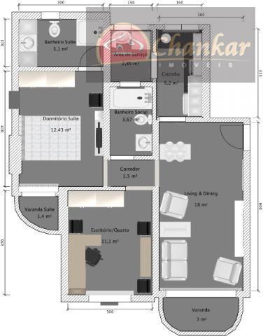oportunidade. ótimo apartamento com cômodos amplos, em rua residencial muito arborizada. com ótimo ar pois está...