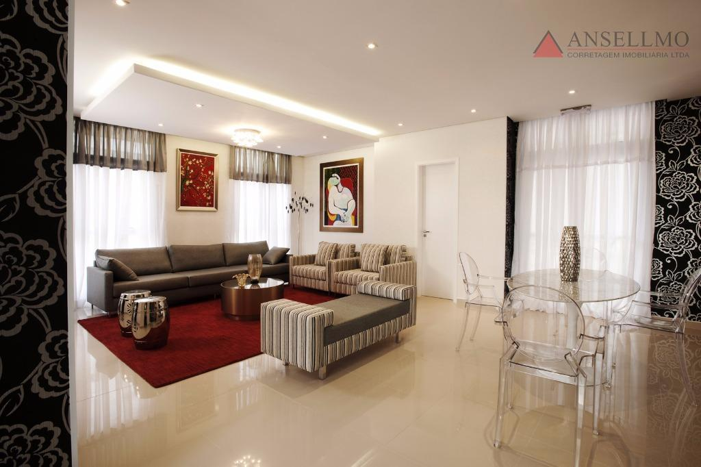 Apartamento residencial com mobilia e eletro novos para venda e locação, Centro, Santo André.