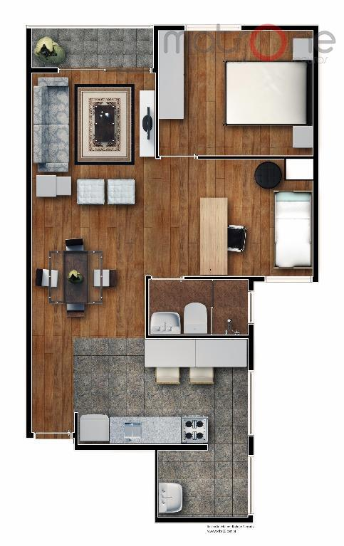 novo!! excelente opção a poucos metros do hospital e maternidade bartira. sala 02 ambientes com varanda,...