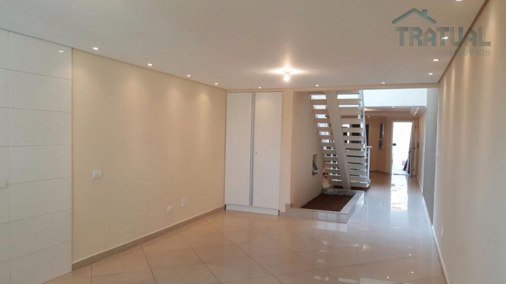 Sobrado residencial para venda e locação, Vila Scarpelli, Santo André.