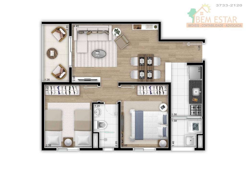 grande oportunidade!!apartamento com vista panorâmica novo nunca habitado.composto de 02 dormitórios, sala para 02 ambientes e...