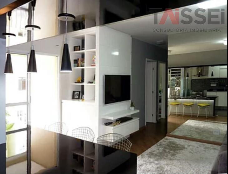 apto de 2 dormitórios e 2 banheiros com 57m2, 1 vaga de garagem demarcada, varanda, cozinha...