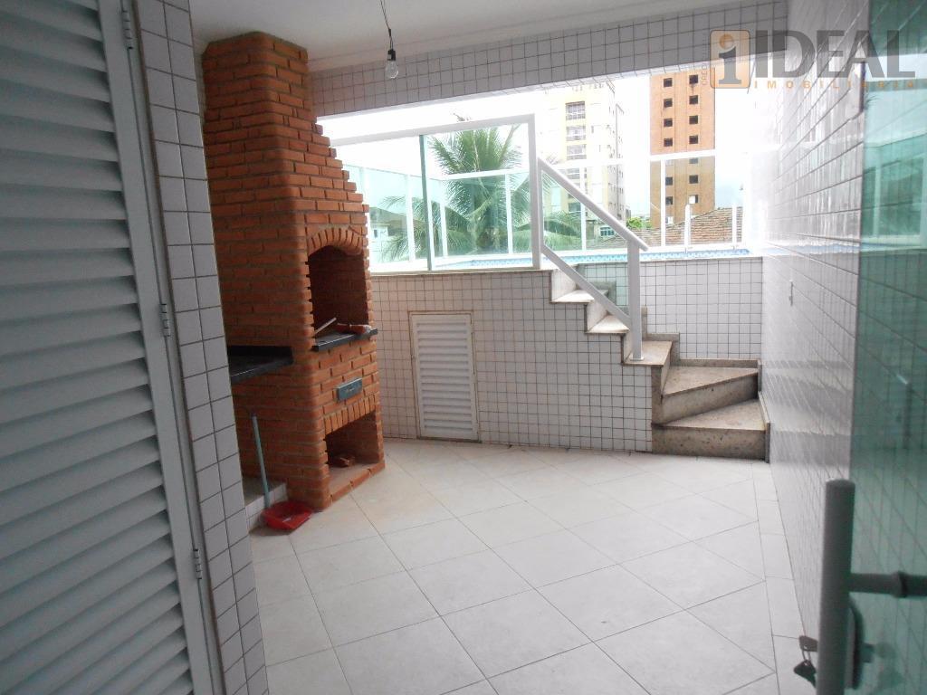 Sobreposta Alta com piscina e churrasqueira à venda, Embaré, Santos.