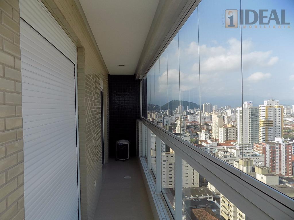 cobertura novíssima, duplex, com vista cinematográfica para o mar!1º piso:- 3 suítes com armários planejados e...