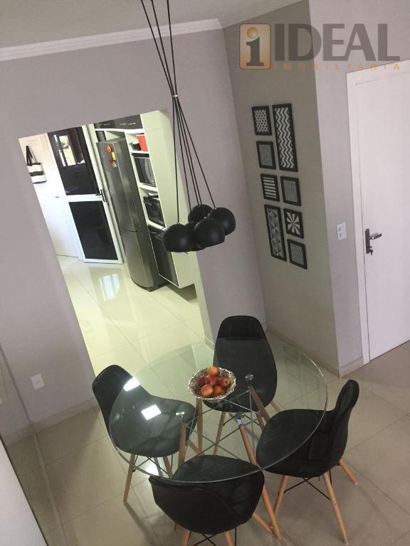 apartamento com 3 dormitórios, sendo 1 suíte, sala ampla com varanda mobiliável, wc social, área de...