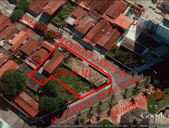 terrenos em praia grande - Terreno frente ao mar. Ideal para incorporação., Balneário Maracanã, Praia Grande.