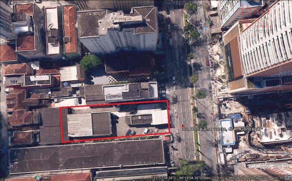 Terreno  residencial à venda, Gonzaga, Santos.