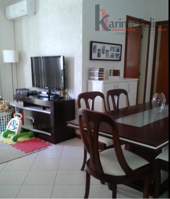 Lindo Apartamento com 1 dormitório, sacada e garagem