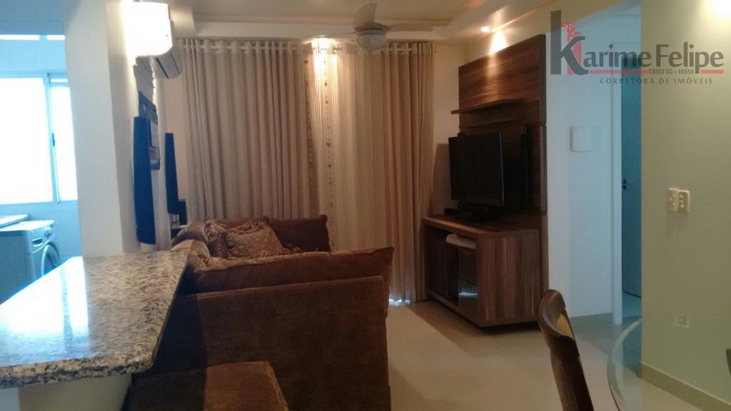 Apartamento 2 quartos todo mobiliado à venda, Barreiros, São José.