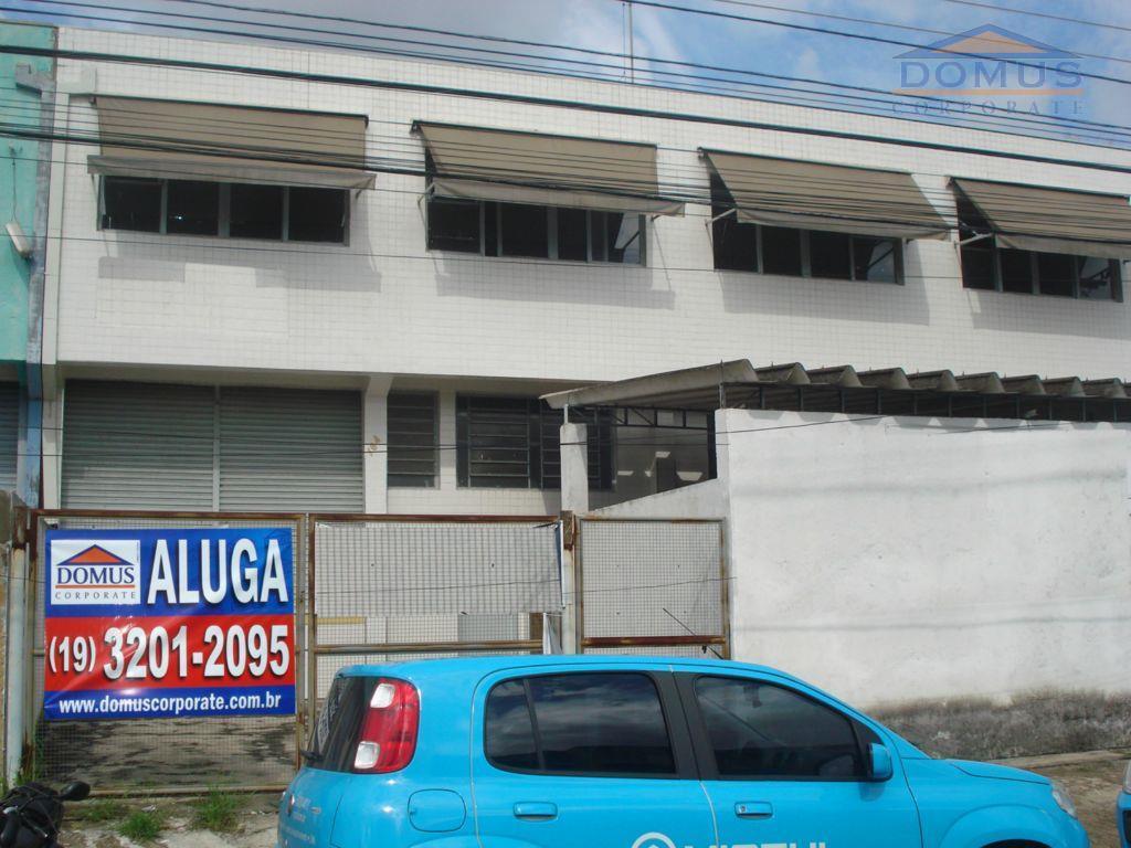 Galpão comercial para locação, Fazenda Santa Cândida, Campinas.