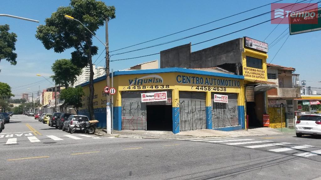 Salão comercial para locação, Parque Industriário, Santo André.