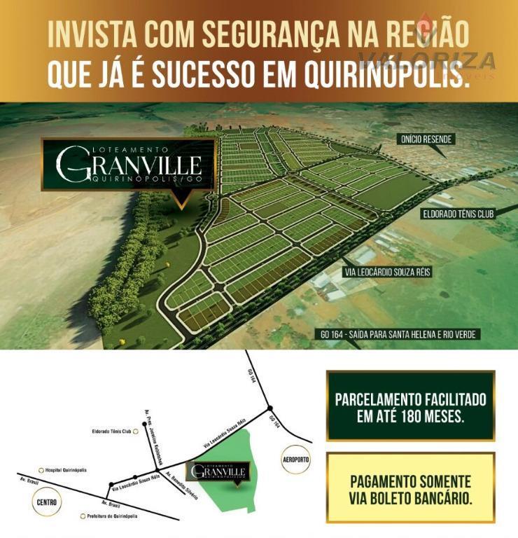loteamento granville... o loteamento mais esperado de quirinópolis!a hora é agora! invista no melhor loteamento da...