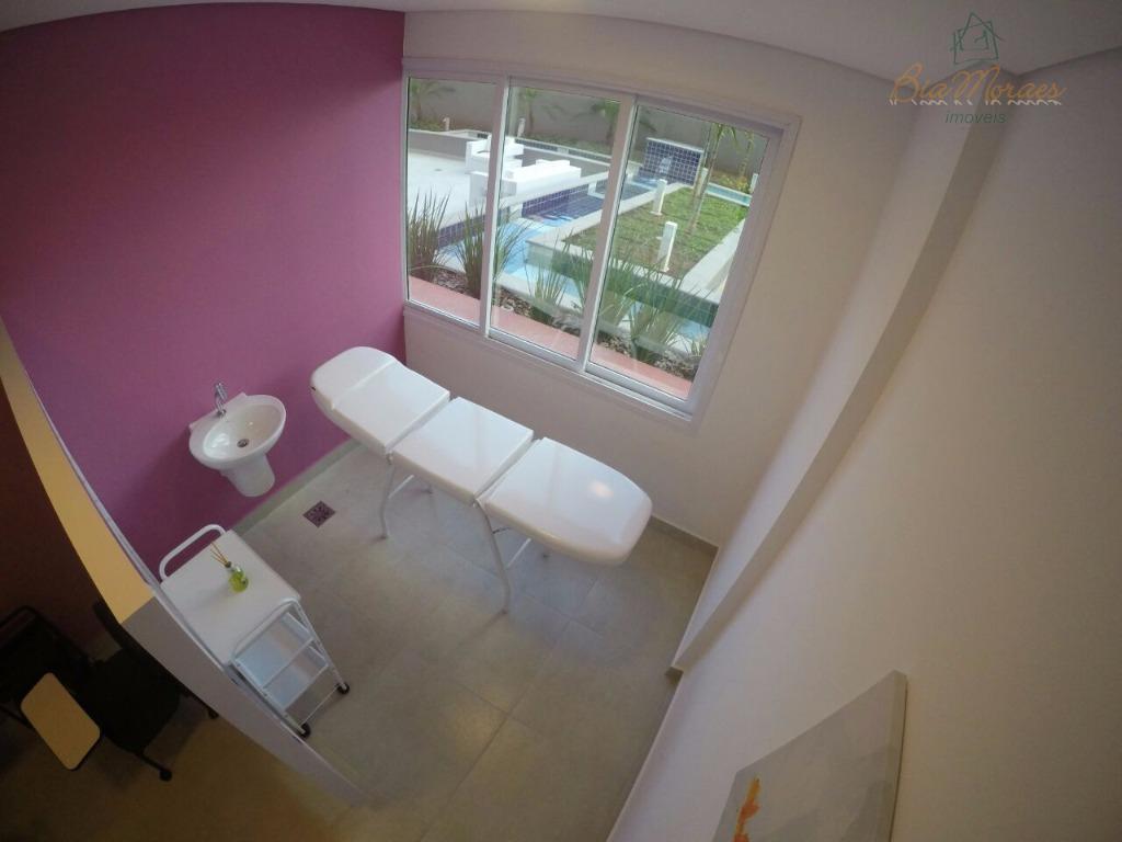 studio moderno com linda area em comum com salao gurmet brinquedoteca sala de reuniao espaço mulher...