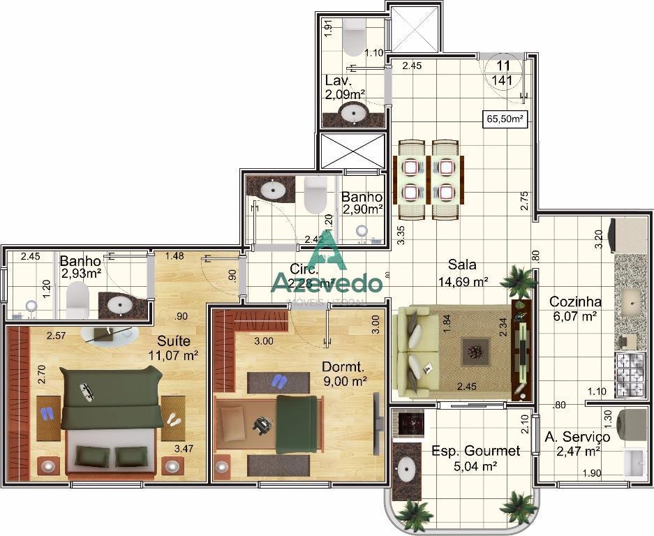 Apartamento  residencial à venda, Aviação, Praia Grande.