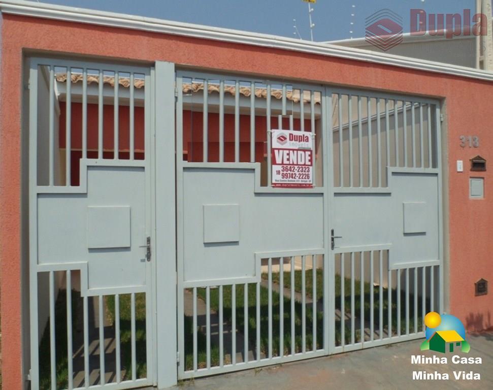 Casa de alvenaria no bairro Residencial Portal da Pérola II em Birigui (SP)