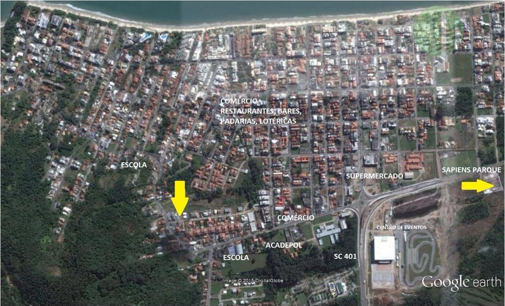 Terreno Canasvieiras | Viab. 3 Casas Geminadas | Próx. Comércio