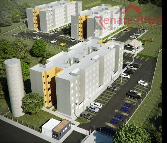 Apartamento com 2 dormitórios à venda, 49 m² por R$ 133.000,00 - Parque Bom Retiro - Paulínia/SP