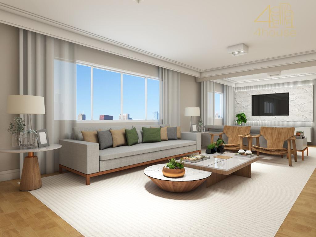 Jardim Paulista - Apartamento Todo REFORMADO 155m²  03 Suítes  02 Vagas  Alameda Sarutaiá para Venda.