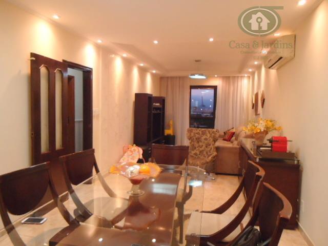 Magnifico Apto 3 dormitórios (suite) + Dep. Empreg. - Fte c/ sacada - Aparecida - Santos