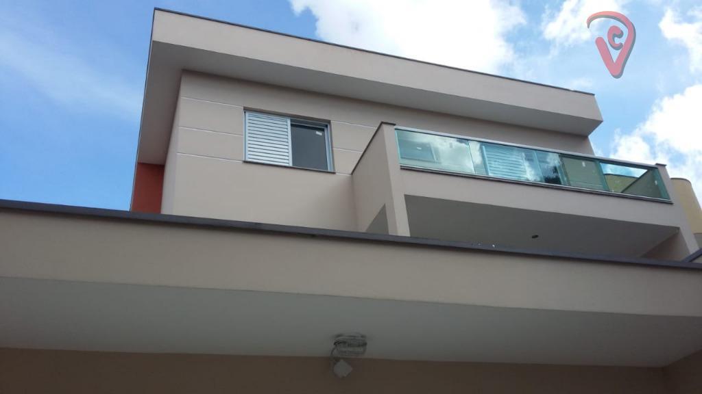 Sobrado com 3 dormitórios à venda, 140 m² por R$ 800.000 - Campestre - Santo André/SP