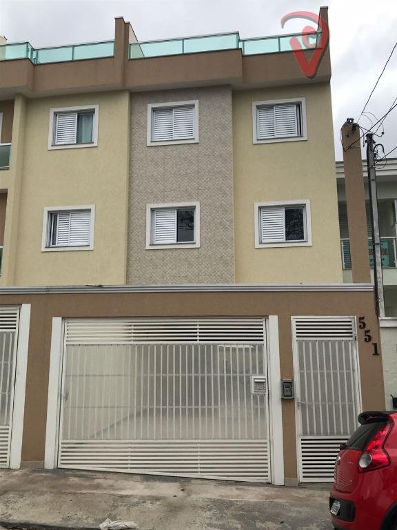 Apartamento com 2 dormitórios à venda, 48 m² por R$ 245.000 - Parque das Nações - Santo André/SP