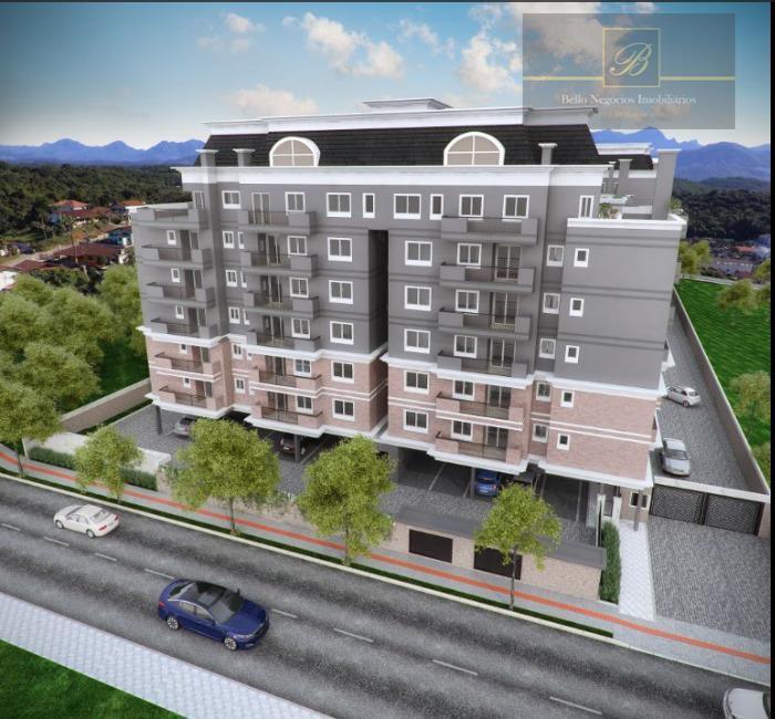 Apartamento com 3 dormitórios à venda, 122 m² por R$ 736.217 - Costa e Silva - Joinville/SC