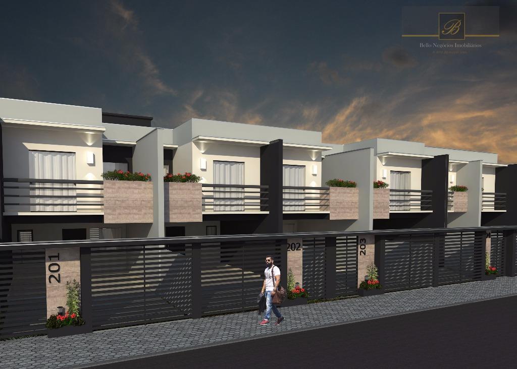 Sobrado com 3 dormitórios à venda, 120 m² por R$ 430.000 - Saguaçu - Joinville/SC