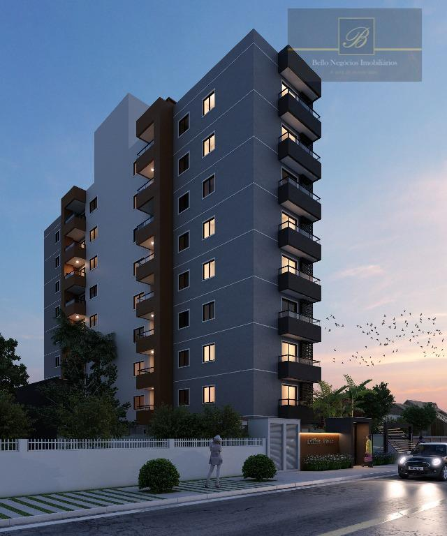 Apartamento com 3 dormitórios à venda, 92 m² por R$ 488.177 - Saguaçu - Joinville/SC