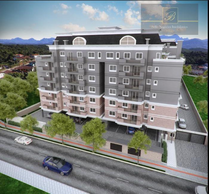 Apartamento com 3 dormitórios à venda, 75 m² por R$ 444.709 - Costa e Silva - Joinville/SC