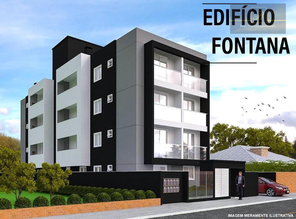 Apartamento com 2 dormitórios à venda, 60 m² por R$ 212.000 - Bom Retiro - Joinville/SC