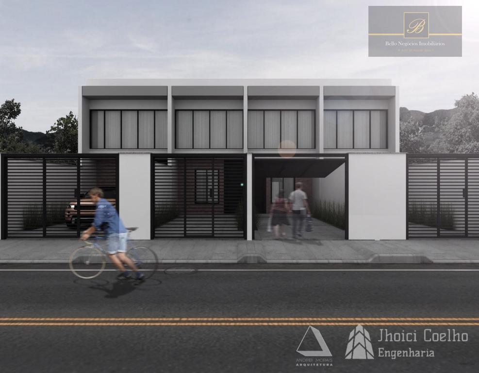 Sobrado com 2 dormitórios à venda, 98 m² por R$ 285.000 - Vila Nova - Joinville/SC