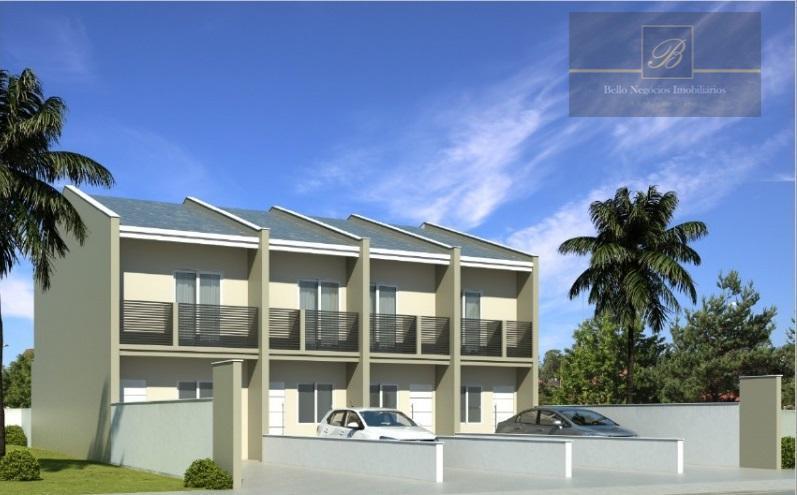 Sobrado com 2 dormitórios à venda, 66 m² por R$ 210.000 - Jardim Iririú - Joinville/SC