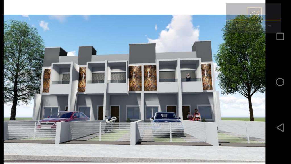 Sobrado com 2 dormitórios à venda, 68 m² por R$ 210.000 - Vila Nova - Joinville/SC