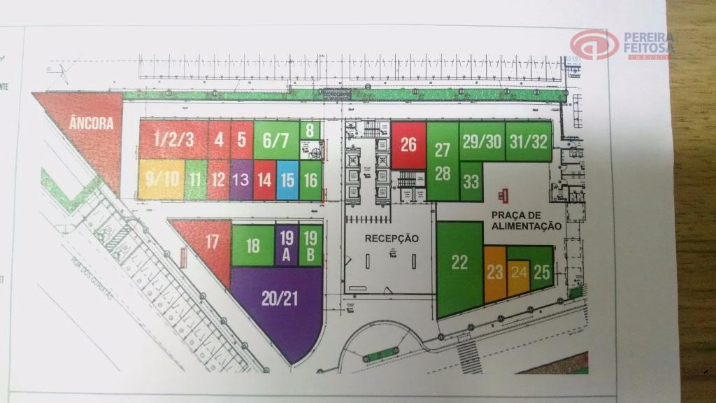 loja tipo âncora com 130 m².estacionamento rotativo para os clientes.