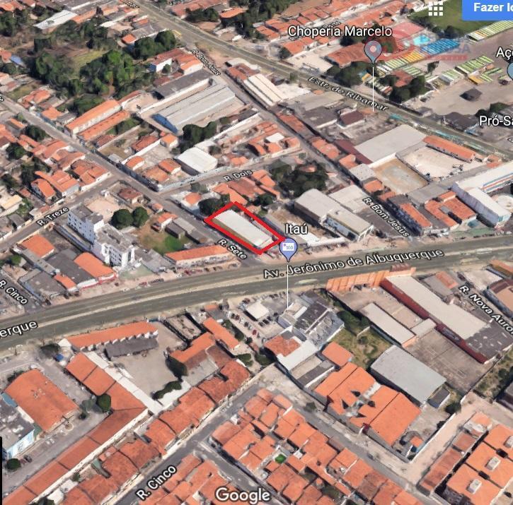 prédio comercial localizado na avenida jerônimo de albuquerque, uma das regiões de maior movimento da cidade,...