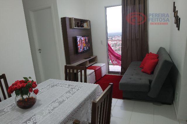 apartamento composto de sala de estar, sacada, um quarto, uma suíte, banheiro social, cozinha com armários,...