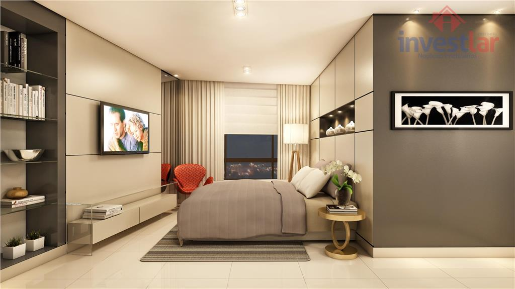 um complexo imobiliário com empresarial, hotel, flat, open mall e duas torres residenciais muda tudo.flat:- 22...