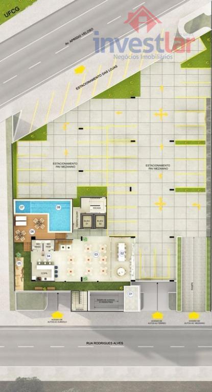 benvenuto residenziale será construído em frente a ufcg e com entrega para maio de 2019.serão 90...