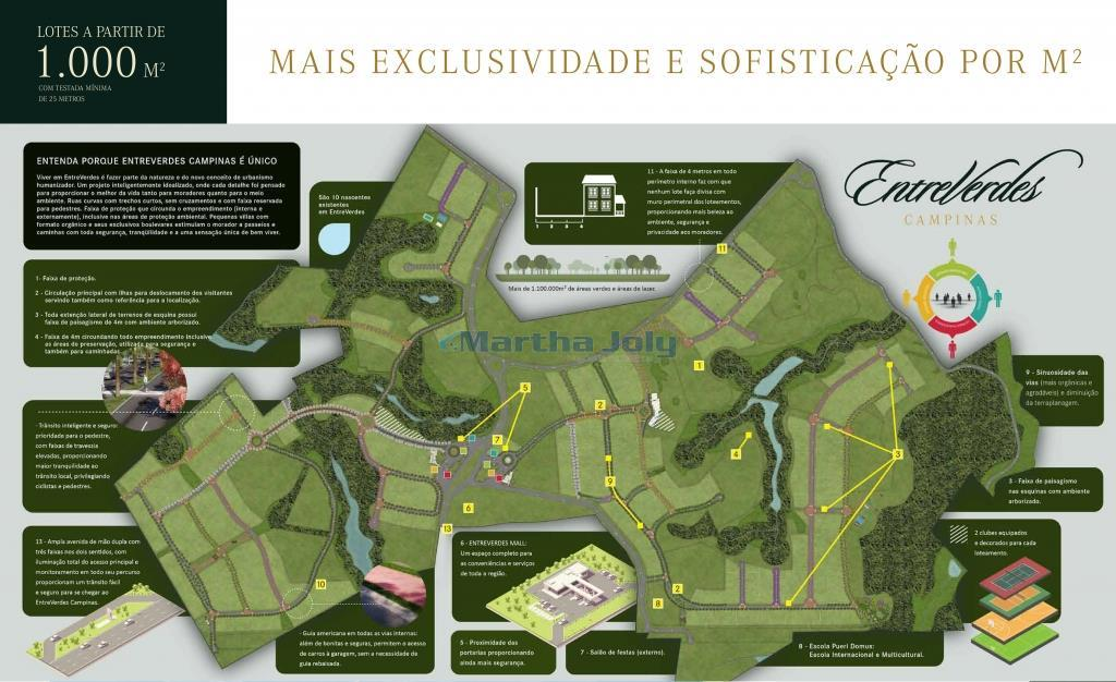 Terreno  residencial à venda, EntreVerdes Sousas, Campinas.