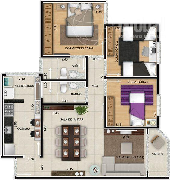 Apartamento residencial à venda, Jardim Bela Vista, Nova Odessa.