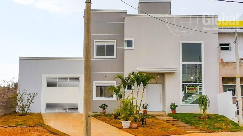 Sobrado residencial à venda, Residencial Real Parque Sumaré, Sumaré.