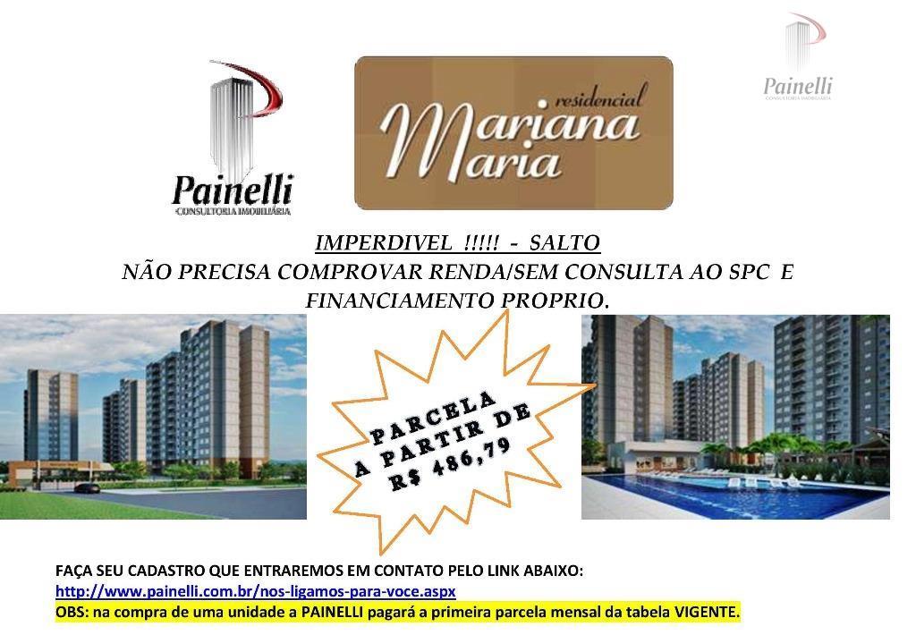 Apartamento residencial à venda, Jardim São João, Salto.